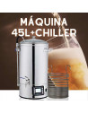 Máquina 45 litros chiller